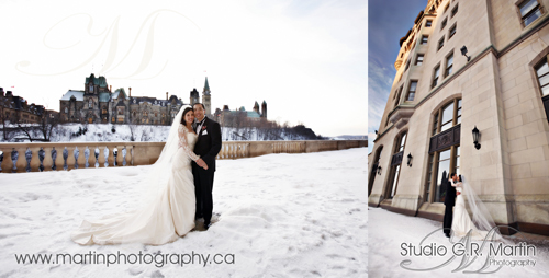 Ottawa winter wedding Chateau Laurier