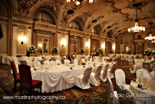 Chateau Laurier Ballroom Ottawa photography