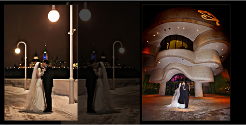 winter wedding - Ottawa wedding photographers - Chateau Laurier