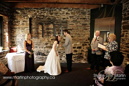 ceremony courtyard restaurant Ottawa wedding