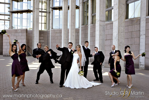 Ottawa Wedding Photography - Notre Dame Cathedral Basilica of Ottawa and Chateau Laurier - Wedding Photographers