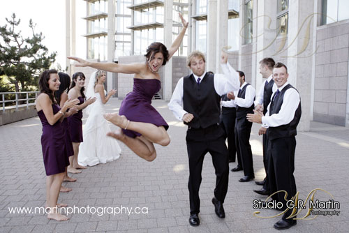 fun wedding party photos in Ottawa
