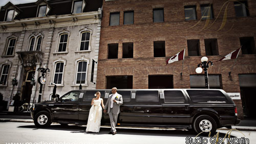 ottawa, ontario, canada wedding photography with Robinson Limousine