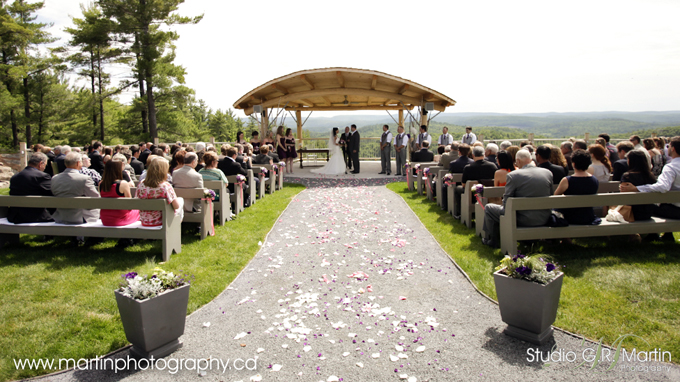 Wakefield, Quebec Wedding ceremony -  Mariage Le Belvédère Québec