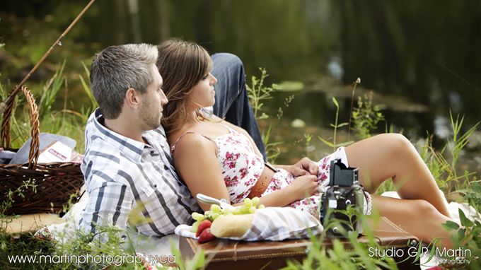 Picnic theme photo shoot Studio G.R. Martin Ottawa Photography