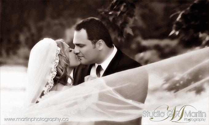 Studio G. R. Martin Ottawa Photographers - Couple Black and white wedding Photography