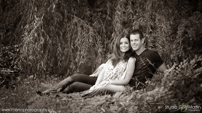 Couple Engagement Photography Studio G.R. Martin Ottawa
