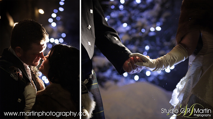 Byward market night winter wedding