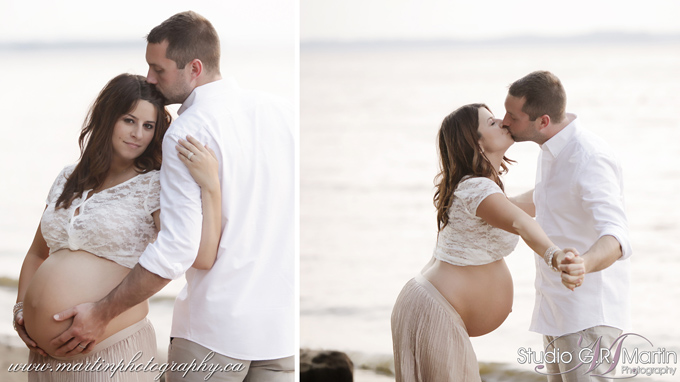 Ottawa Maternity Photographers beach sunset Maternity Session