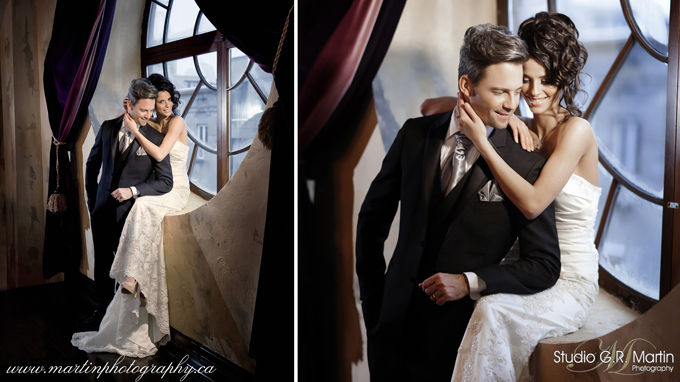 Ottawa wedding photography + Bride and Groom Canada wedding magazine cover photographers - Chateau du vieux Montreal