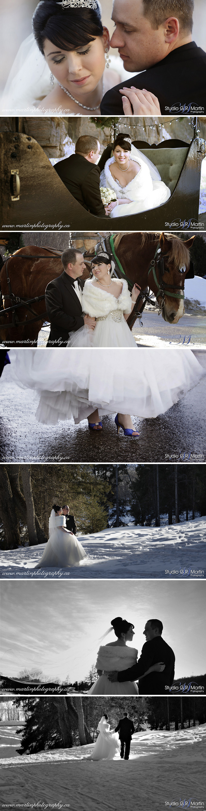 Muskoka Winter Wedding Ottawa Wedding Photographers Deerhurst Resort