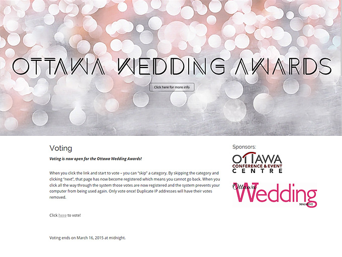 ottawa wedding voting