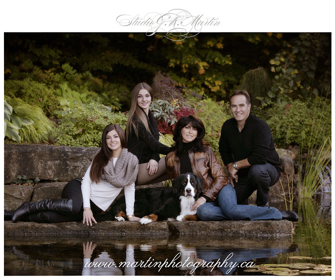 outdoor family of 4 fall photography Orleans Cumberland Ottawa Ontario portrait photographers