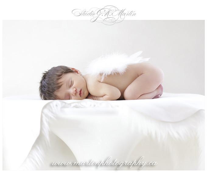 sleeping baby with wings, Ottawa portrait and wedding photographer, Newborn photography Ottawa, Baby and family photographers in Ottawa, Newborn Studio Photographers in Ottawa Ontario