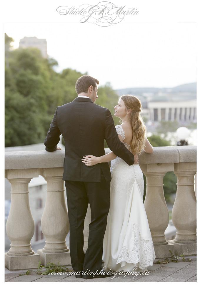 Ottawa wedding photography - Fairmont Chateau Laurier balcony - Studio G.R. Martin