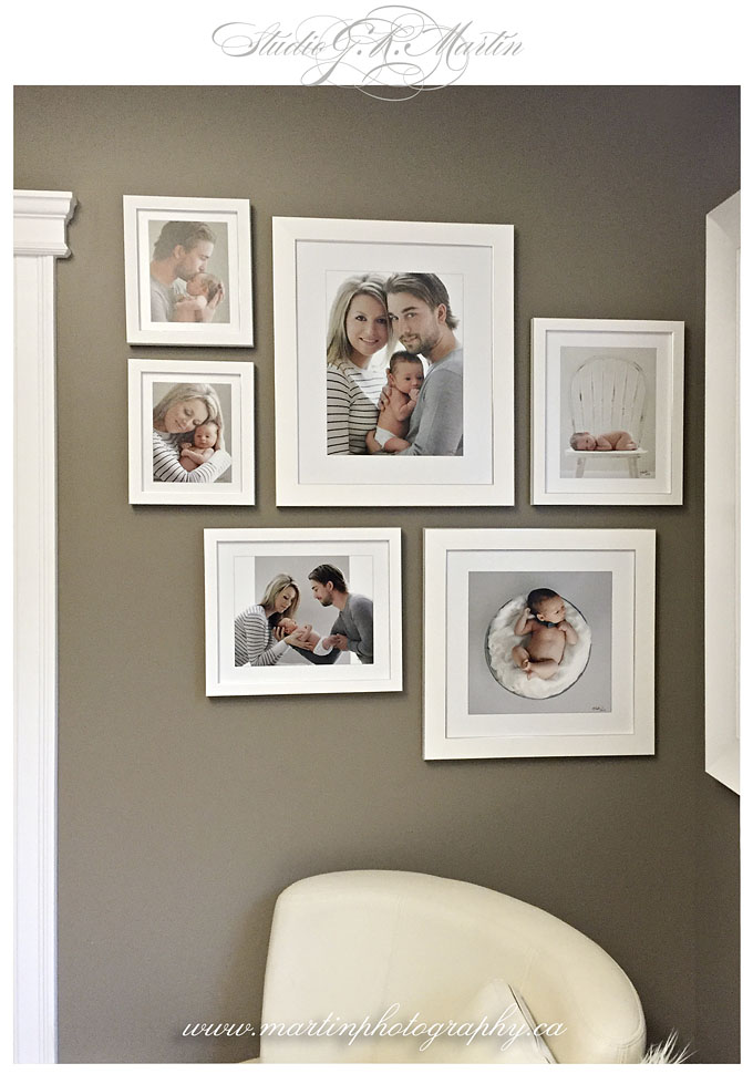 Ottawa-newborn-baby-studio-photography-photographers- printed wall colour montage